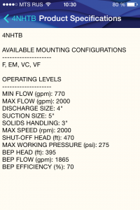 Технические характеристики насоса для перекачки навоза Cornell 6NHTB